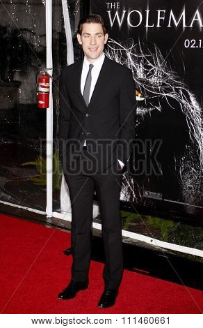 February 9, 2010. John Krasinski at the Los Angeles premiere of