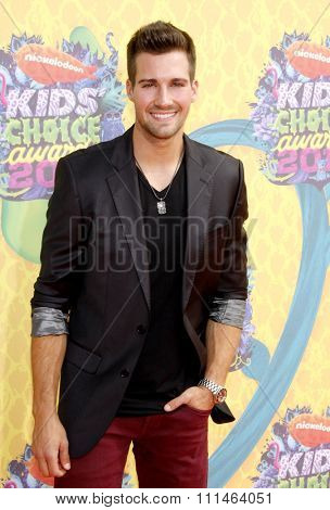 James Maslow at the Nickelodeon's 27th Annual Kids' Choice Awards held at the USC Galen Center in Los Angeles on March 29, 2014 in Los Angeles, California.