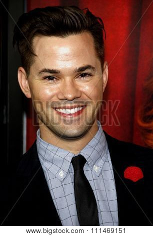 Andrew Rannells at the Los Angeles premiere of HBO's 'The Comeback' held at the El Capitan Theatre in Los Angeles on November 5, 2014 in Los Angeles, California.