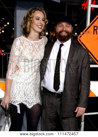 Quinn Lundberg and Zach Galifianakis  at the Los Angeles premiere of 'Due Date' held at the Grauman's Chinese Theatre in Hollywood on Ocotober 28, 2010.