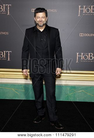 Andy Serkis at the Los Angeles premiere of 'The Hobbit: The Battle Of The Five Armies' held at the Dolby Theatre in Hollywood on December 9, 2014.