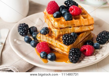 Fresh Homemade Brussels Waffles