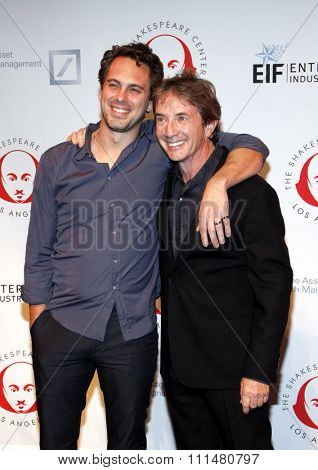 Thomas Sadoski and Martin Short at the 23rd Annual Simply Shakespeare held at the Broad Stage in Los Angeles on September 25, 2013 in Los Angeles, California.