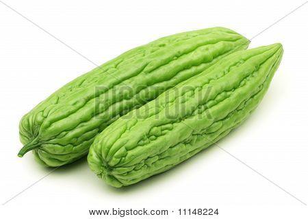 Bitter melon on white background
