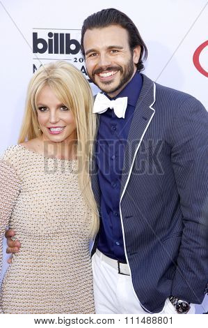 Britney Spears and Charlie Ebersol at the 2015 Billboard Music Awards held at the MGM Garden Arena in Las Vegas, USA on May 17, 2015.