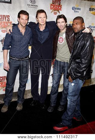 Bradley Cooper, Liam Neeson, Sharlto Copley and Quinton 'Rampage Jackson' at the 2010 Spike TV's Guys Choice Awards held at the Sony Pictures Studios in Culver City on June 5, 2010.