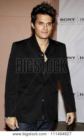 John Mayer at the 2008 Sony/BMG Grammy After Party held at the Beverly Hills Hotel in Beverly Hills on February 10, 2008.