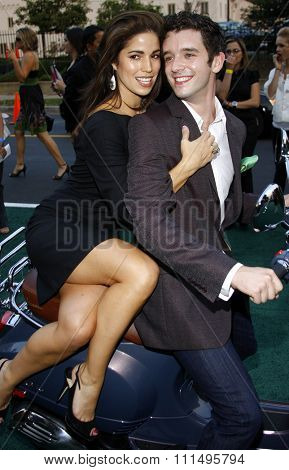 Michael Urie and Ana Ortiz at the 2007 Environmental Media Awards held at the Ebell Club in Los Angeles on October 24, 2007.