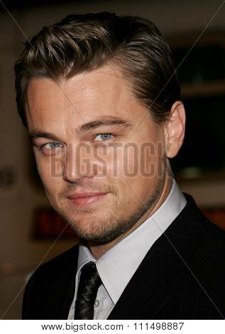 December 6, 2006. Leonardo DiCaprio attends the Los Angeles Premiere of