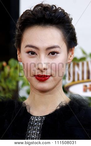 Isabella Leong at the Los Angeles premiere of 'The Mummy: Tomb Of The Dragon Emperor' held at the Gibson Amphitheatre in Universal City on July 27, 2008.