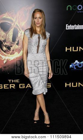 Kim Raver at the Los Angeles premiere of 'The Hunger Games' held at the Nokia Theatre L.A. Live in Los Angeles on March 12, 2012.