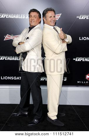 Sylvester Stallone and Frank Stallone at the Los Angeles premiere of