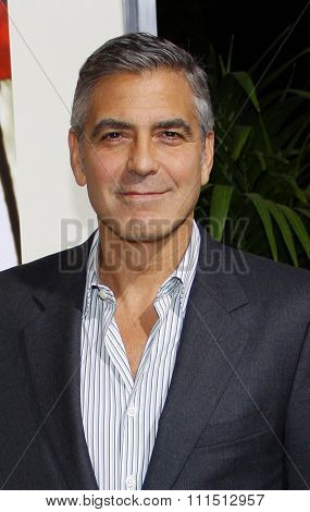 George Clooney at the Los Angeles premiere of 'The Descendants' held at the AMPAS Samuel Goldwyn Theater in Beverly Hills on November 15, 2011.