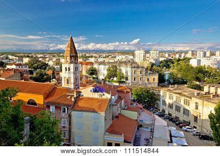 Ancient City Of Zadar Aerial View