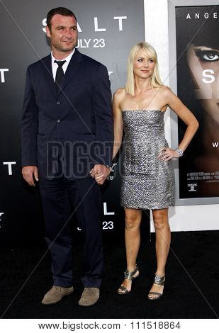 Liev Schreiber and Naomi Watts at the Los Angeles premiere of 'Salt