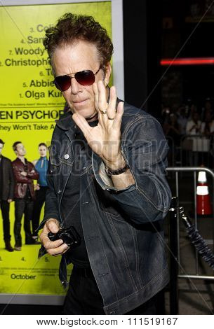 Tom Waits at the Los Angeles premiere of 'Seven Psychopaths' held at the Mann Bruin Theatre in Westwood on October 1, 2012.