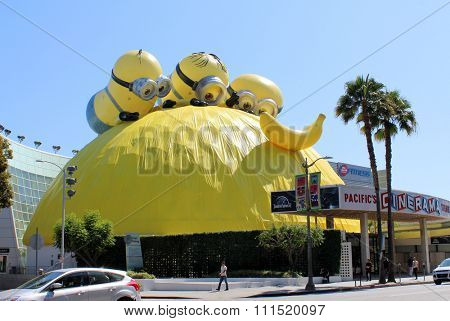 Minions movie promotion at the Cinerama Dome ArcLight Cinemas in Hollywood - 6360 Sunset Blvd, CA, USA on June 23, 2015.
