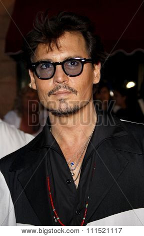 Johnny Depp at the Los Angeles premiere of 'Pirates Of The Caribbean: On Stranger Tides' held at the Disneyland in Anaheim on May 7, 2011.