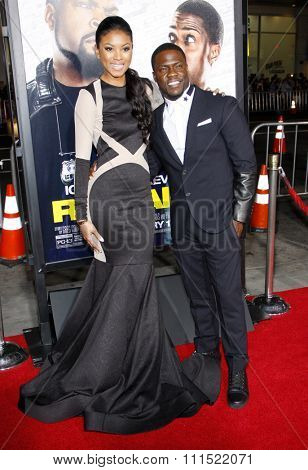 Eniko Parrish and Kevin Hart at the Los Angeles premiere of