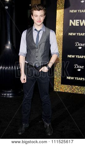 Chris Colfer at the Los Angeles premiere of 'New Year's Eve' held at the Grauman's Chinese Theatre in Hollywood on December 5, 2011.