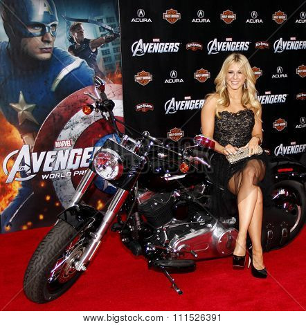 Chelsie Hightower at the Los Angeles premiere of 'Marvel's The Avengers' held at the El Capitan Theatre in Los Angeles on April 11, 2012.
