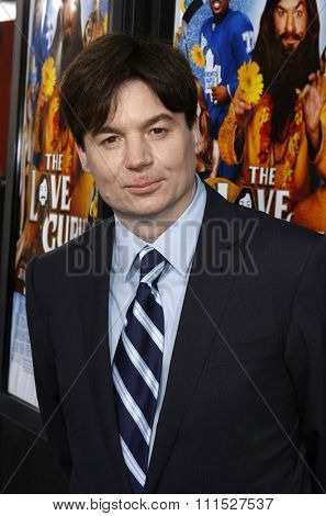 Mike Myers at the Los Angeles premiere of 'Love Guru' held at the Grauman's Chinese Theater in Hollywood on June 11, 2008.