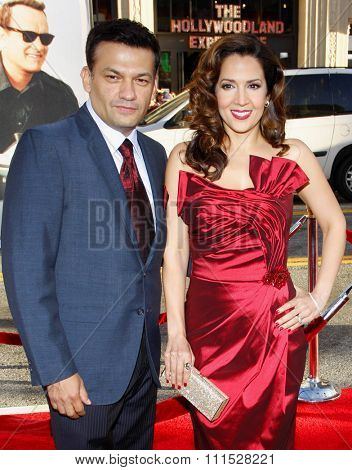 Maria Canals-Barrera and David Barrera at the Los Angeles premiere of 'Larry Crowne' held at the Grauman's Chinese Theatre in Hollywood on June 27, 2011.
