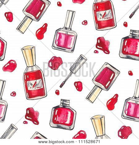 Watercolor Make up background