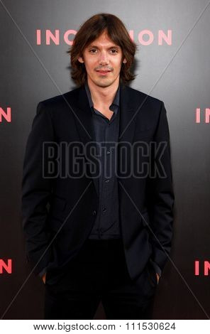 Lukas Haas at the Los Angeles premiere of 'Inception' held at the Grauman's Chinese Theatre in Hollywood on July 13, 2010.