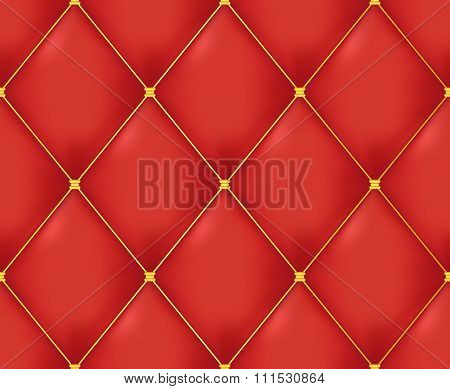 Red Quilted Seamless Vector Pattern