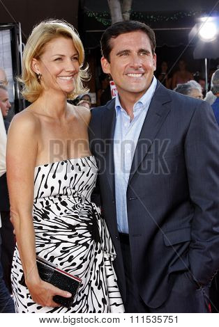 Steve Carell and Nancy Carell at the Los Angeles premiere of 'Get Smart' held at the Mann Village Theatre in Westwood on June 16, 2008.