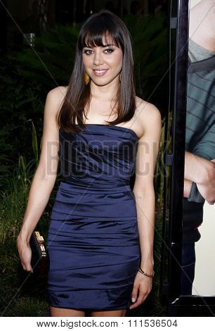 Aubrey Plaza at the Los Angeles premiere of 'Funny People' held at the ArcLight Cinemas in Hollywood on July 20, 2009.