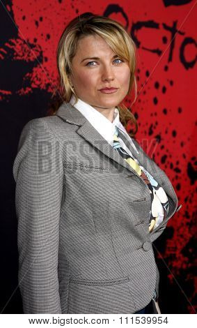 Lucy Lawless attends the Los Angeles Premiere of