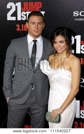 Channing Tatum and Jenna Dewan-Tatum at the Los Angeles premiere of '21 Jump Street' held at the Grauman's Chinese Theater in Hollywood on March 13, 2012.