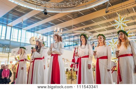 Lucia celebration in Sweden