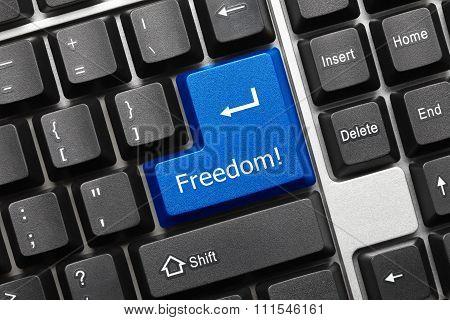 Conceptual Keyboard - Freedom (blue Key)