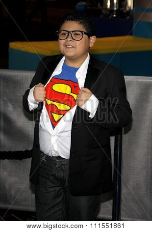 Rico Rodriguez at the Los Angeles premiere of 'Megamind' held at the Hollywood and Highland in Hollywood, USA on October 30, 2010.