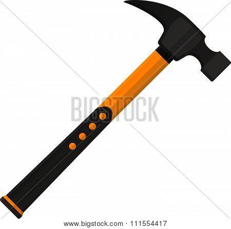 Vector hammer in flat design