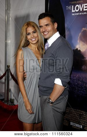 Cheryl Moana Marie and Antonio Sabato Jr. at the Los Angeles premiere of 'The Lovely Bones' held at the Grauman's Chinese Theater in Hollywood, USA on December 7, 2009.