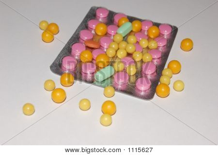 Multi-Coloured Tablets