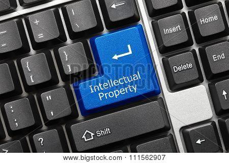 Conceptual Keyboard - Intellectual Property (blue Key)