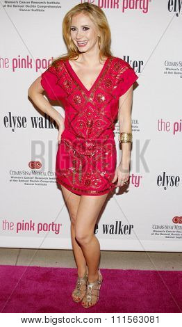 SANTA MONICA, CA - SEPTEMBER 12, 2009: Ashley Jones at the 5th Annual Pink Party held at the La Cachette Bistro in Santa Monica, USA on September 12, 2009.
