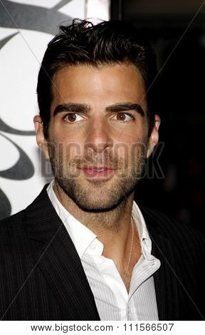 WESTWOOD, CA - SEPTEMBER 19, 2011: Zachary Quinto at the Los Angeles premiere of 'What's Your Number?' held at the Westwood Village Theater in Westwood, USA on September 19, 2011.
