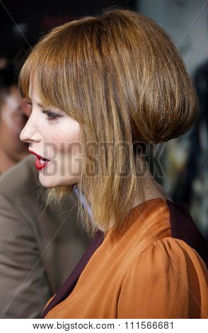 LOS ANGELES, CA - SEPTEMBER 12, 2012: Sienna Guillory at the Los Angeles premiere of 'Resident Evil: Retribution' held at the Regal Cinemas L.A. Live in Los Angeles, USA on September 12, 2012.