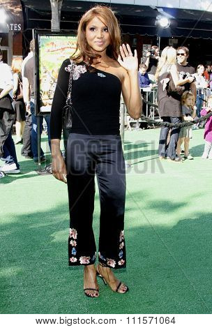 WESTWOOD, CA - OCTOBER 26, 2008: Toni Braxton at the Los Angeles premiere of 'Madagascar: Escape 2 Africa' held at the Mann Village Theater in Westwood, USA on October 26, 2008.