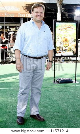 WESTWOOD, CA - OCTOBER 26, 2008: Andy Richter at the Los Angeles premiere of 'Madagascar: Escape 2 Africa' held at the Mann Village Theater in Westwood, USA on October 26, 2008.