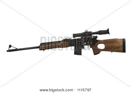 russian hunting carbine of calibre of 556 mm (223rem) made on the basis of kalashnikov's automatic device poster