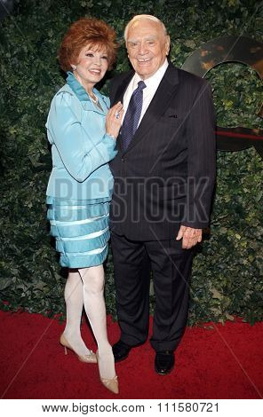 BEVERLY HILLS, CA - MARCH 05, 2010: Ernest Borgnine and Tova Traesnaes at the Celebrate QVC Style held at the Four Seasons Hotel in Beverly Hills, USA on March 5, 2010.