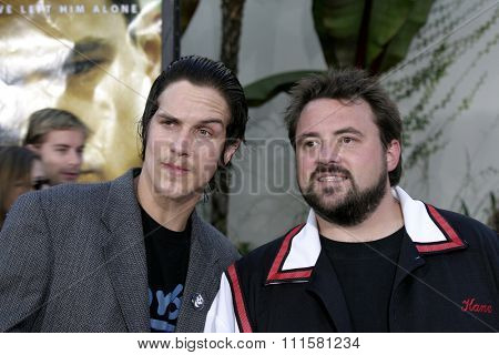 HOLLYWOOD, CA - JULY 15, 2004: Jason Mewes and Kevin Smith at the World premiere of 'The Bourne Supremacy' held at the ArcLight Cinema in Hollywood, USA on July 15, 2004.