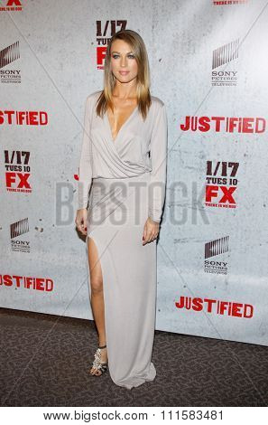 HOLLYWOOD, CA - JANUARY 10, 2012: Natalie Zea at the season 2 premiere of FX;s 'Justified' held at the DGA Theater in Hollywood, USA on January 10, 2012.